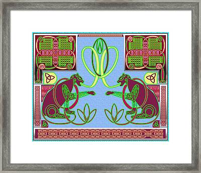 Eternal Celtic Cats Framed Print by Mike Sexton