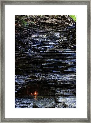 Eternal Flame Falls Framed Print by Darleen Stry