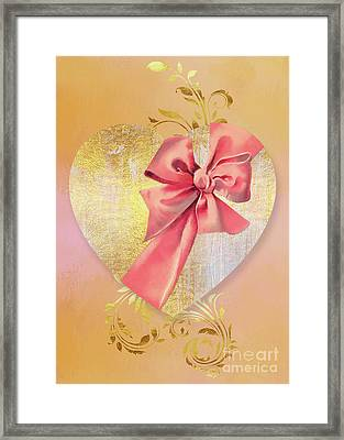 Eternal Heart, Wrapped In A Bow, Valentines Day Art Framed Print