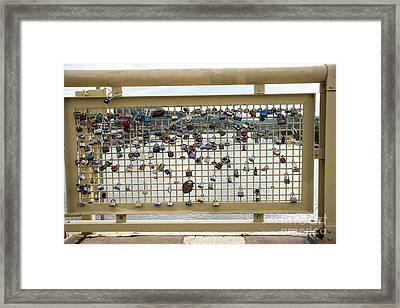 Eternal Love Locks Framed Print