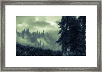 Eternal Shadow Falls  Framed Print by Andrea Mazzocchetti