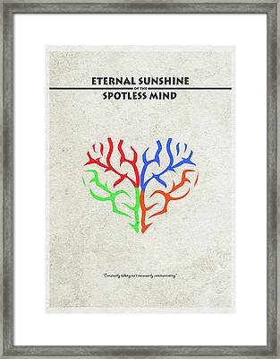 Eternal Sunshine Of The Spotless Mind - Alternative And Minimalist Poster Framed Print