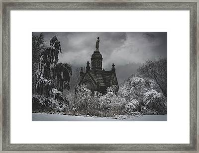 Framed Print featuring the digital art Eternal Winter by Chris Lord