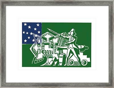 Ethan Allen Framed Print by Scarlett Royal