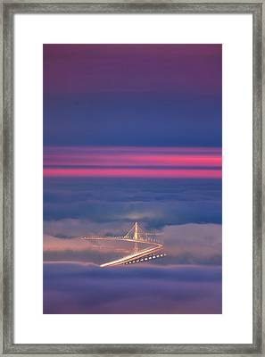 Ethereal Bridge, Oakland Bay Bridge Framed Print by Vincent James