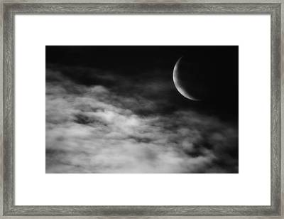Ethereal Crescent Moon Framed Print by Bill Wakeley