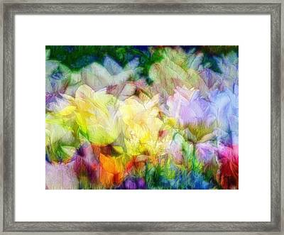 Ethereal Flowers Framed Print
