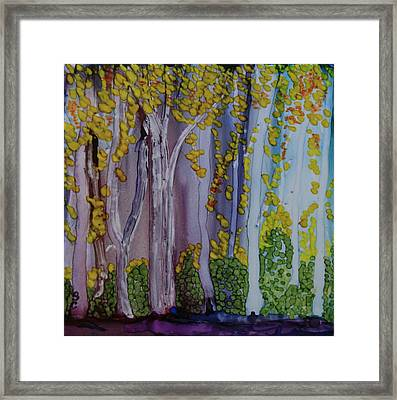 Ethereal Forest Framed Print by Suzanne Canner