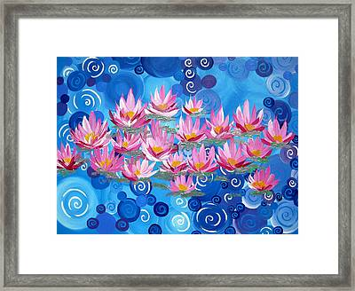 Ethereal Lotus Framed Print by Cathy Jacobs