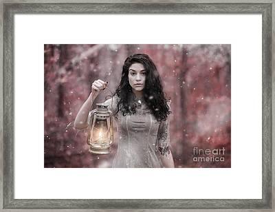 Ethereal Snow Beauty Framed Print