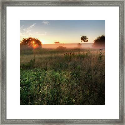 Ethereal Sunrise Square Framed Print by Bill Wakeley