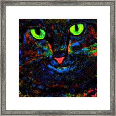 Ethical Kitty See's Your Dilemma Light 2 Dark Version Framed Print