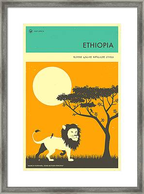 Ethiopia Travel Poster Framed Print