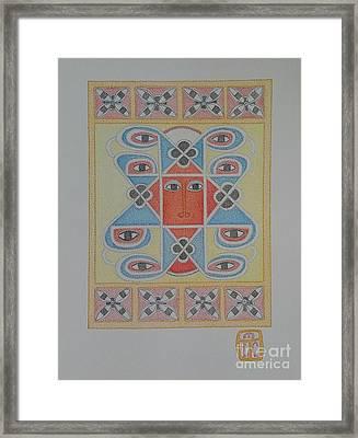 Ethiopian Cherub Talismen Scroll Framed Print