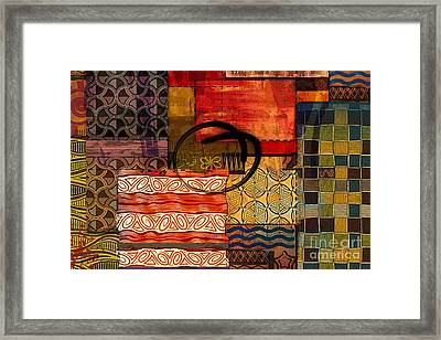 Ethnic Abstract Framed Print