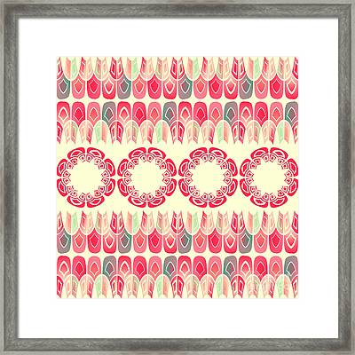 Ethnic Geometric Pattern Framed Print by Gaspar Avila