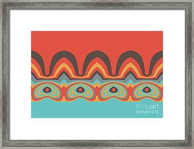 Ethnic Pattern Framed Print