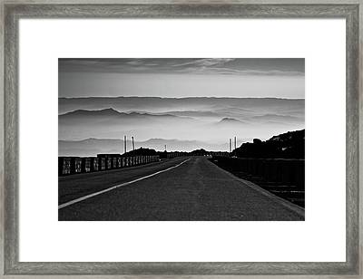 Framed Print featuring the photograph Etna Road by Bruno Spagnolo