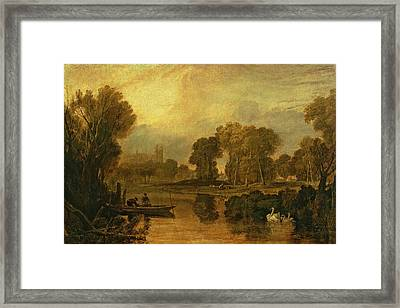 Eton College From The River Framed Print