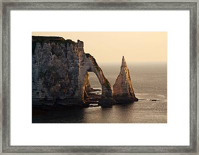 Etretat In Morning Sun Framed Print