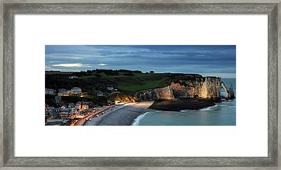 Etretat In The Evening Framed Print by Nailia Schwarz