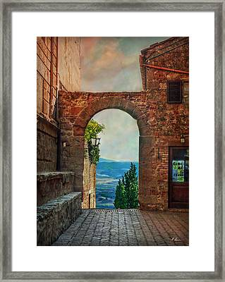 Framed Print featuring the photograph Etruscan Arch by Hanny Heim