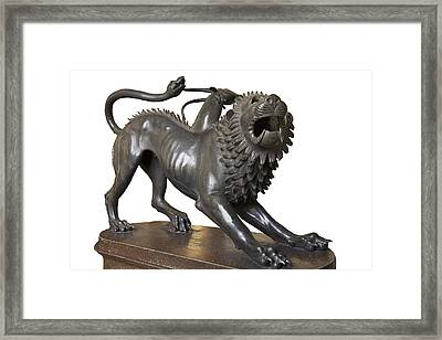 Etruscan Chimera, 4th Century Bc Framed Print