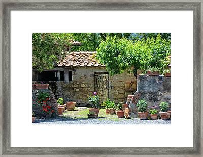 Etruscan Garden Framed Print by Joachim G Pinkawa