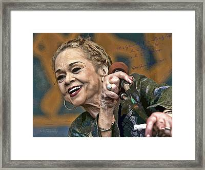 Etta James Framed Print
