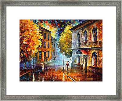 Etude In Red Framed Print by Leonid Afremov