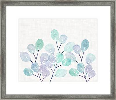 Framed Print featuring the mixed media Eucalyptus by Kristian Gallagher