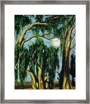 Eucalyptus Moon Framed Print by Helen O Hara