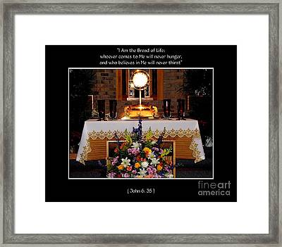 Eucharist I Am The Bread Of Life Framed Print by Rose Santuci-Sofranko