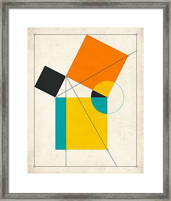 Euclid Framed Print by Jazzberry Blue