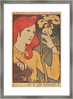 Eugene Grasset Framed Print by Salon des Cent
