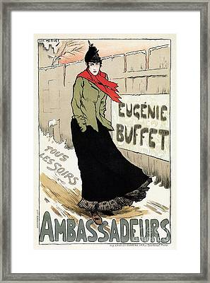 Eugenie Buffet Winter Framed Print by Aapshop