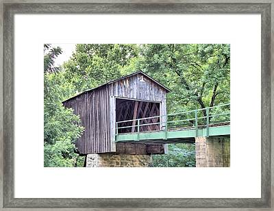 Euharlee Creek Covered Bridge Framed Print