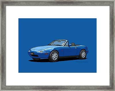 Eunos Roadster Mk1 Mariner Blue Framed Print
