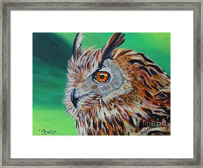 Eurasian Eagle-owl Framed Print by Isabel Proffit