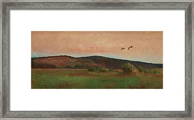 Eurasian Woodcocks Framed Print by Bruno Liljefors