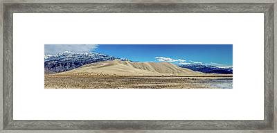 Framed Print featuring the photograph Eureka Dunes - Death Valley by Peter Tellone