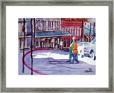 Framed Print featuring the painting Eureka Springs Ak 3 by Ron Stephens