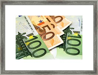 Euro Banknotes Framed Print by Fabrizio Troiani