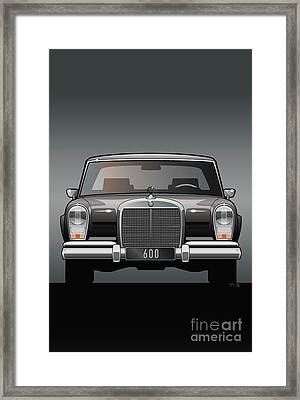 Euro Classic Series Mercedes-benz W100 600 Framed Print by Monkey Crisis On Mars