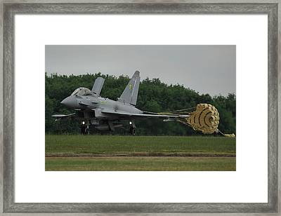 Eurofighter Typhoon Fgr4 Framed Print by Tim Beach