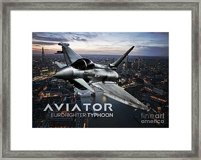 Eurofighter Typhoon Fighter Jet Framed Print by Fernando Miranda