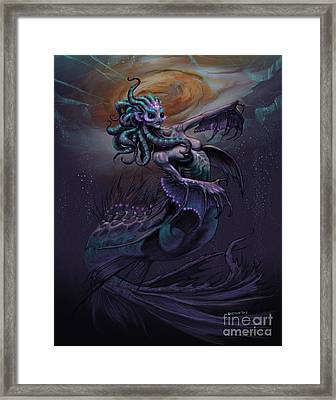 Framed Print featuring the digital art Europa Mermaid by Stanley Morrison