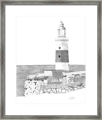 Europa Point Lighthouse Framed Print