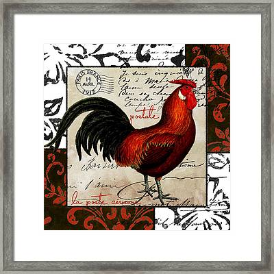 Europa Rooster II Framed Print by Mindy Sommers
