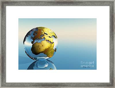 Europe And Africa Framed Print by Corey Ford